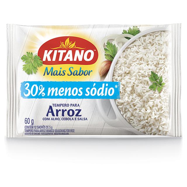 Mais Sabor em Pó Kitano Tempero para Arroz 60 gramas