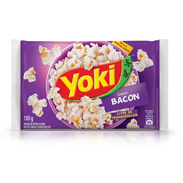 Popcorn para Micro-Ondas Yoki Sabor Bacon