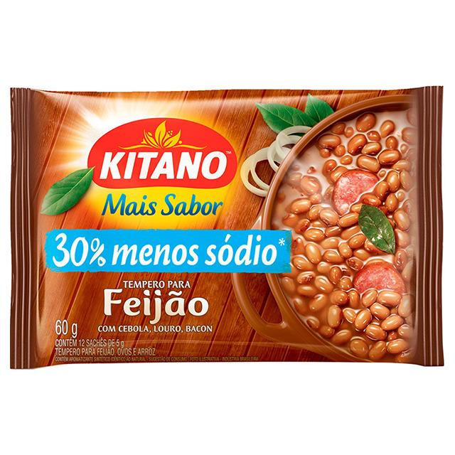 Mais Sabor em Pó Kitano Tempero para Feijão 60 gramas