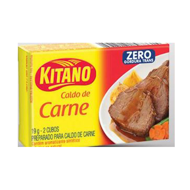 Caldo em Cubo Kitano de Carne Tira com 2 Cubos cada