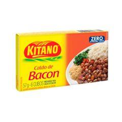 Caldo em Cubo Kitano de Bacon com 6 Cubos cada
