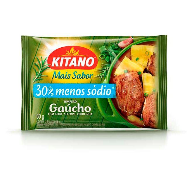 Mais Sabor em Pó Kitano Tempero Gaucho 60 gramas
