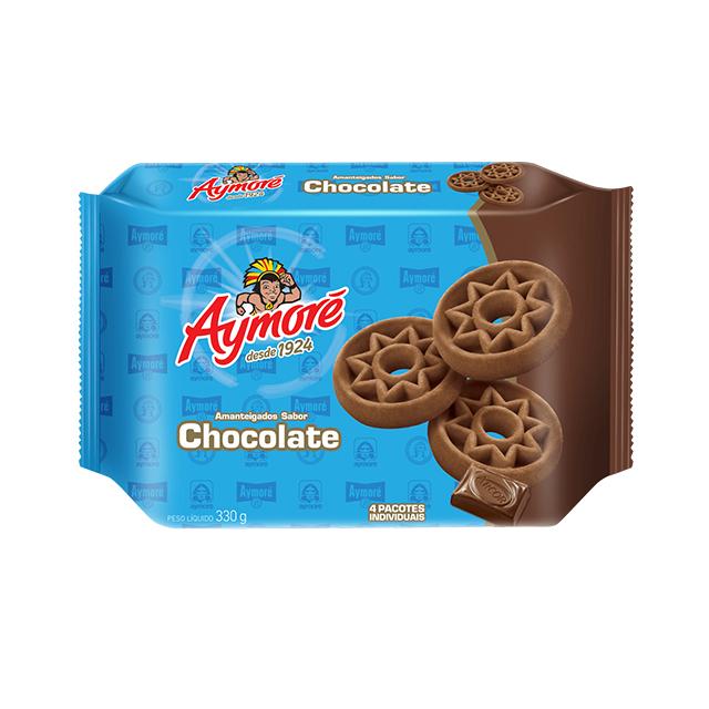 Biscoito Aymoré Amanteigado Chocolate