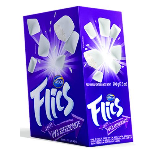 Chicle Arcor Flics Uva Refrescate