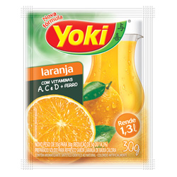 Refresco em Pó Yoki Sabor Laranja 30 gramas