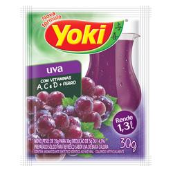 Refresco em Pó Yoki Sabor Uva 30 gramas