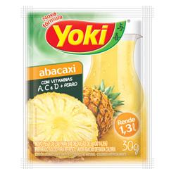 Refresco em Pó Yoki Sabor Abacaxi 30 gramas