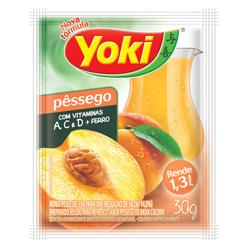 Refresco em Pó Yoki Sabor Pêssego 30 gramas