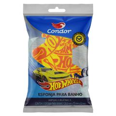 Esponja Condor para Banho Infantil Hot Wheels