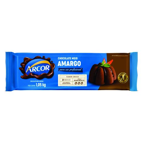 Chocolate para Cobertura Arcor Meio Amargo 1,05kg