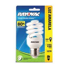 Lâmpada Rayovac Espiral Branca 15W 127V