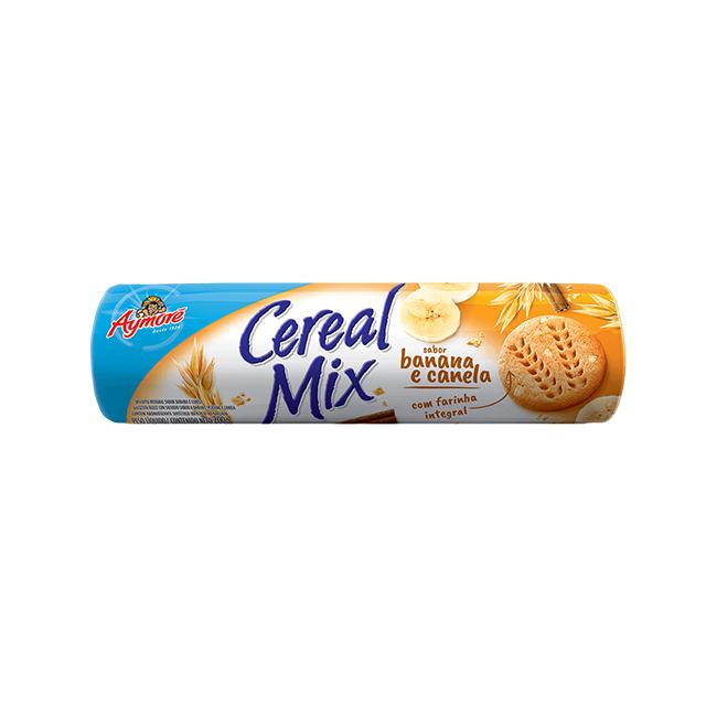 Biscoito Aymoré Integral Cereal Mix Banana e Canela