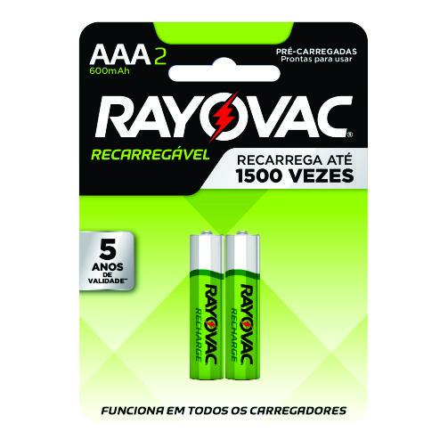 Pilha Recarregável Rayovac Palito AAA2