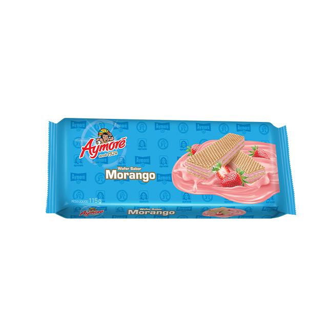Biscoito Aymoré Wafer Morango