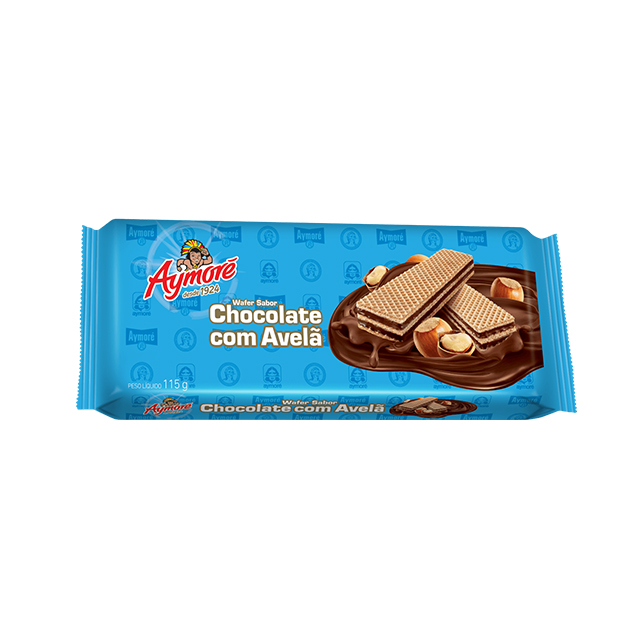 Biscoito Aymoré Wafer Chocolate com Avelã