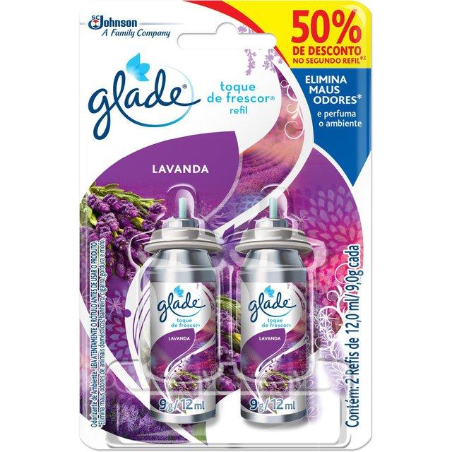 Aromatizante Glade Toque de Frescor Lavanda Refil 50% de Desconto