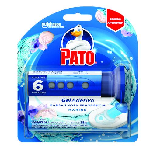 Desodorizador Sanitário Pato Gel Adesivo Marine Aparelho 6 Discos