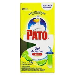 Desodorizador Sanitário Pato Gel Adesivo Refil Citrus 6 Discos