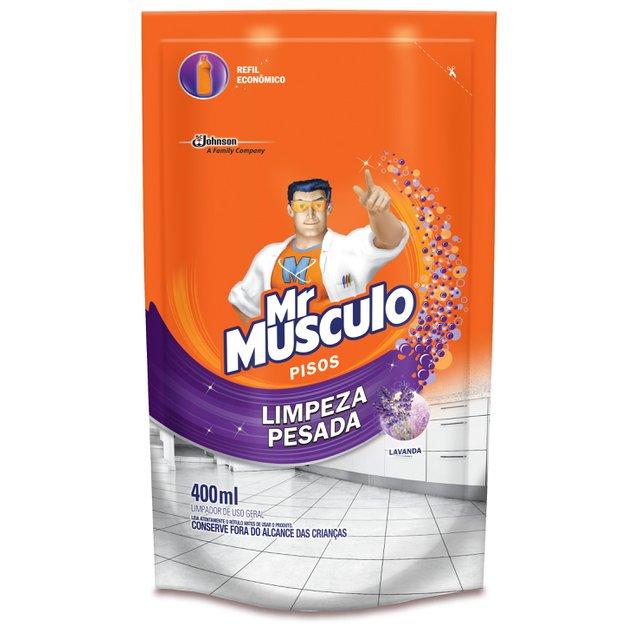 Limpador de Pisos Mr Musculo Limpeza Pesada Lavanda Pouche Refil
