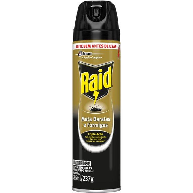 Inseticida Raid Aerossol Mata Baratas e Formigas