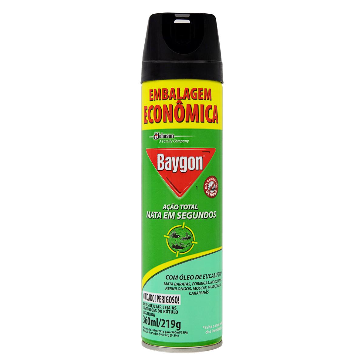 Inseticida Baygon Ação Total Eucalipto Aerossol