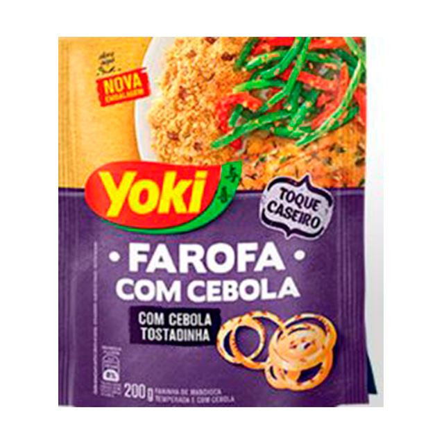Farofa Yoki com Pedaços de Cebola