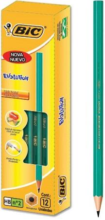 Lápis Bic Evolution Preto Hexagonal