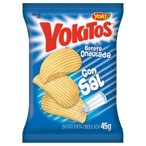 Batata Yoki Ondulada Yokitos Natural com Sal