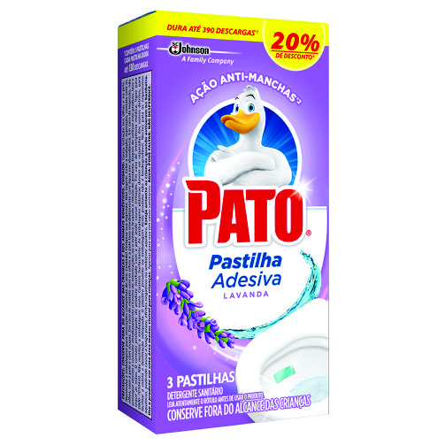 Detergente Sanitário Pato Pastilha Adesiva Lavanda Oferta