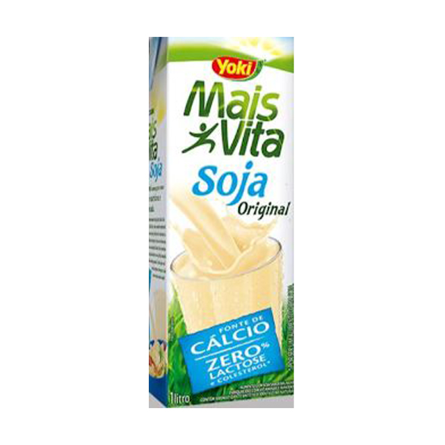 Bebida de Soja Yoki Mais Vita Sabor Original Baunilha