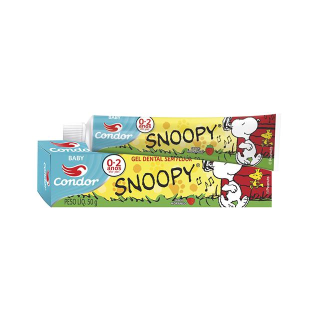 Gel Dental Condor 50g Baby Snoopy Sabor Morango 0 a 2 anos