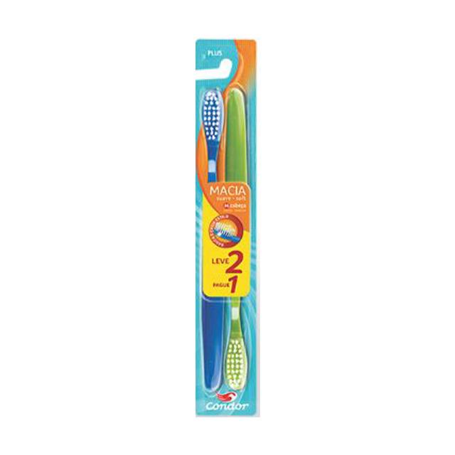 Escova Condor Dental Plus L2P1 Macia