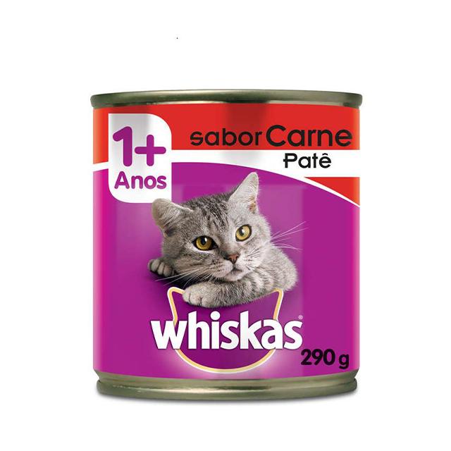Ração Whiskas Patê Sabor Carne