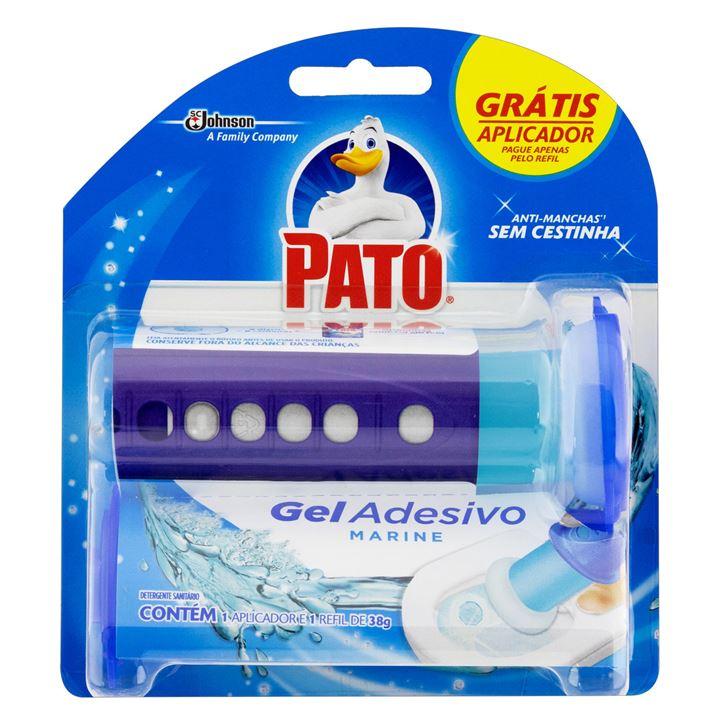 Desodorizador Sanitário Pato Gel Adesivo Marine 6 Discos Grátis Aplicador