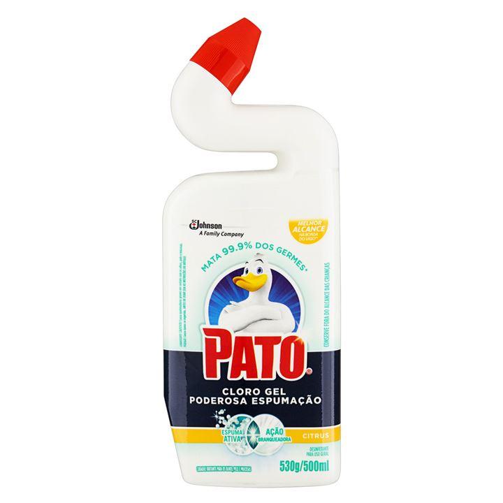 Limpador de Banheiro Pato Limpeza Profunda Gel Citrus