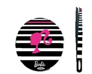 Kit Espelho e Pinça Condor Barbie