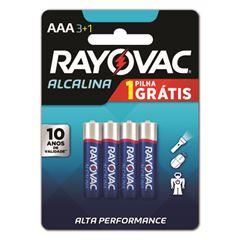 Pilha Rayovac Alcalina Pequena AA4 Leve 4 Pague 3 Unidades