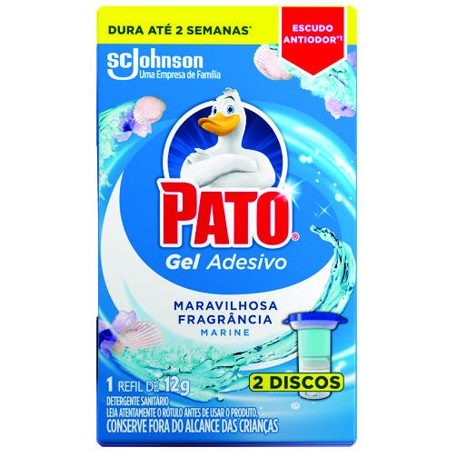 Desodorizador Sanitário Pato Gel Adesivo Marine Refil 2 Discos