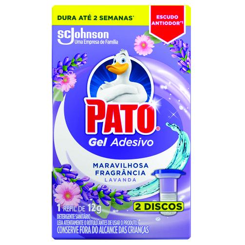 Desodorizador Sanitário Pato Gel Adesivo Lavanda Refil