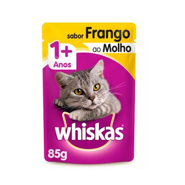 Ração Whiskas Sabor Frango 1+Anos Adulto