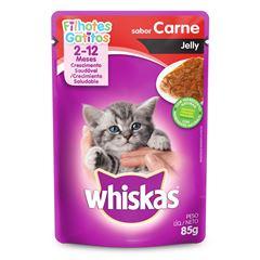 Ração Whiskas Sabor Carne Jelly 2 a 12 Meses Filhotes