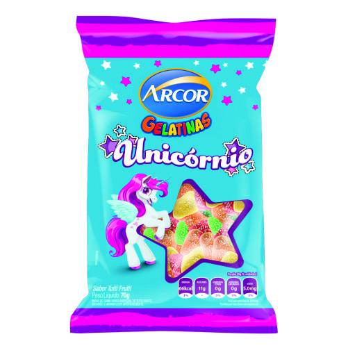 Bala Gelatinosa Arcor Unicornio