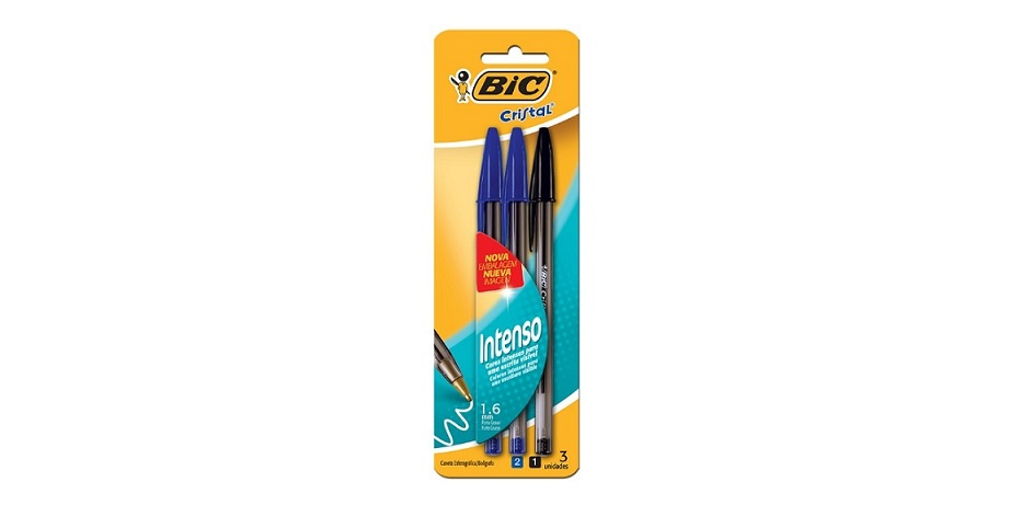 Caneta Bic Cristal Bold Azul e Preta