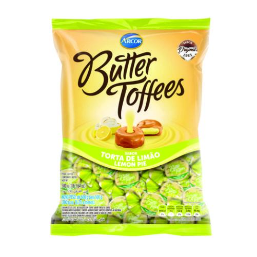 Bala Recheada Arcor Butter Toffees Torta de Limão