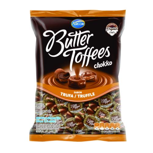 Bala Recheada Arcor Butter Toffees Chokko Trufa