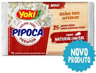 Popcorn para Micro-Ondas Yoki Sabor Natural com Sal
