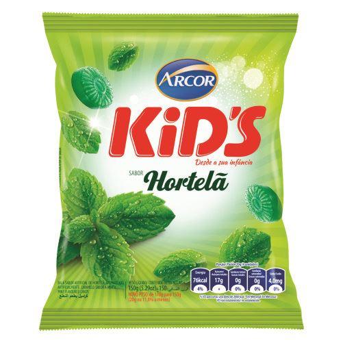 Bala Dura Arcor Kids Hortelã