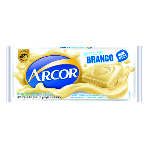 Chocolate Barra Arcor Branco 80g