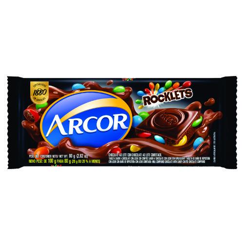Chocolate Barra Arcor Rocklets 80g