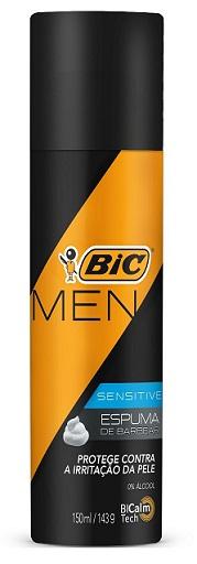 Espuma de Barbear Bic Sensitive Men 150ml